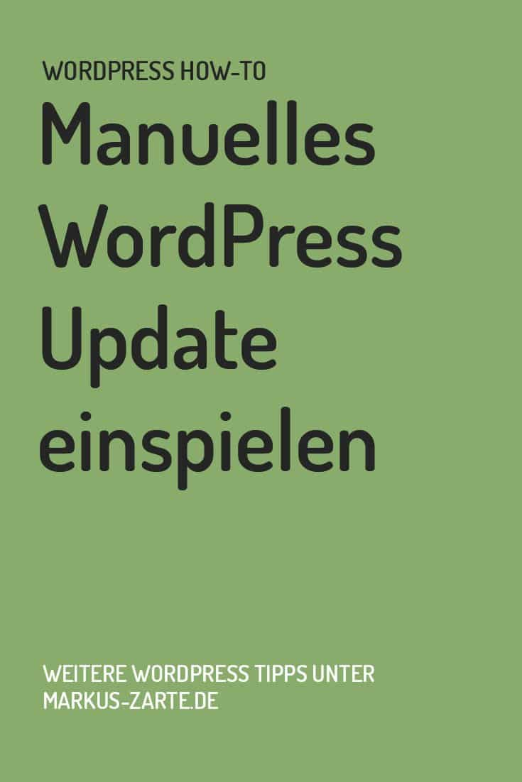 Manuelles WordPress Update einspielen