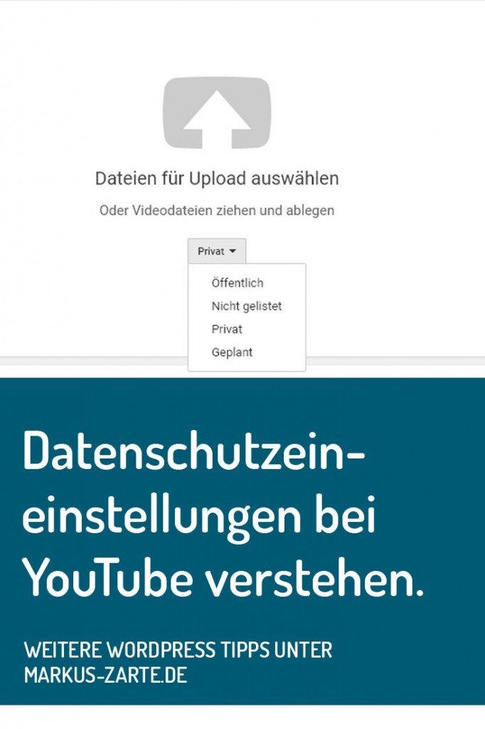 Datenschutzeinstellungen YouTube verstehen