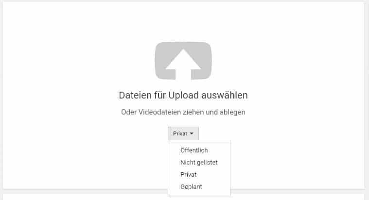 YouTube Video Datenschutzeinstellungen