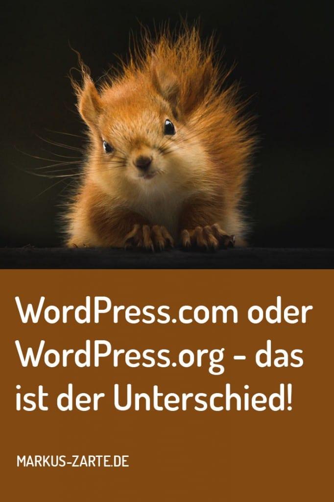 Unterschied WordPress.com WordPress.org