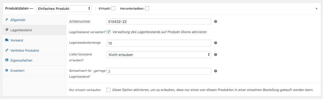 WooCommerce Webshop erstellen - Screenshot 6