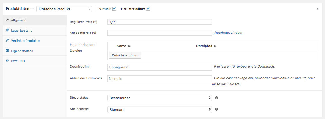 WooCommerce Webshop erstellen - Screenshot 5
