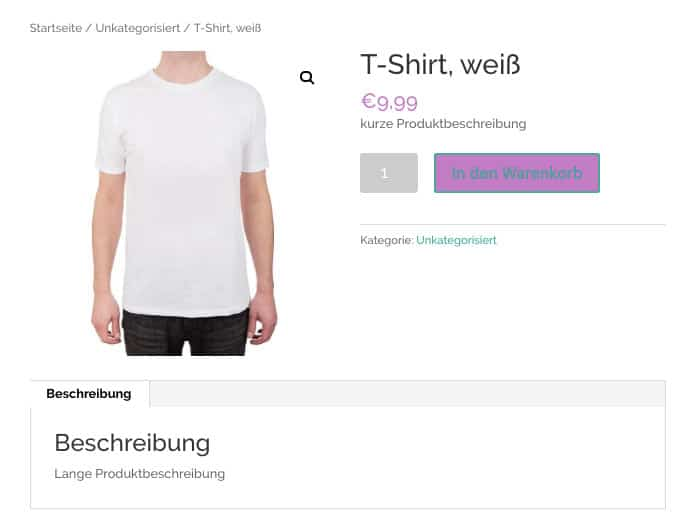 WooCommerce Webshop erstellen - Screenshot 4