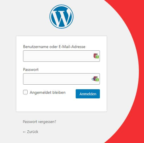 WordPress Login finden