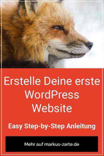 Erstelle Deine erste WordPress Website