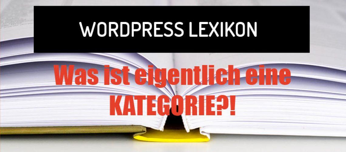 Was ist eine Kategorie in WordPress?