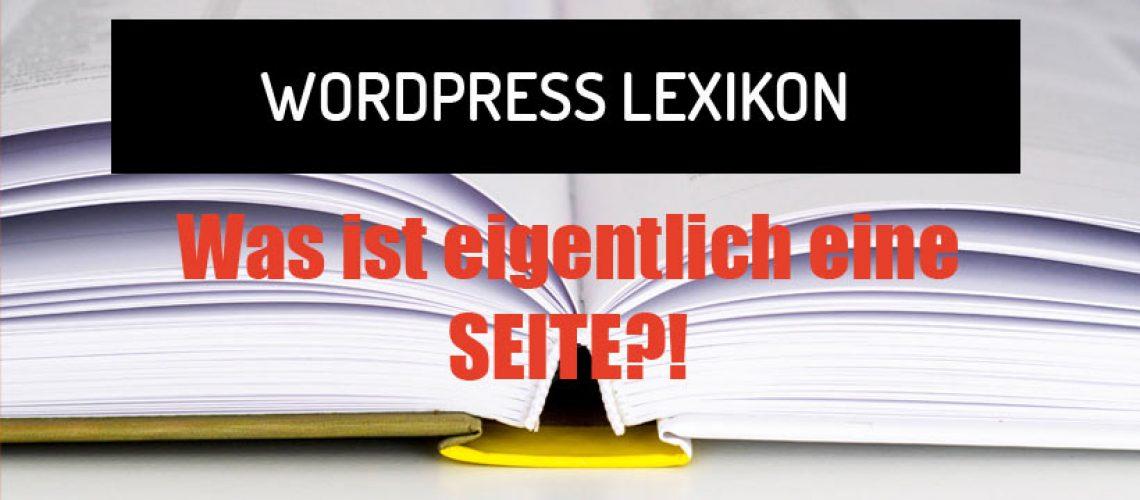 Was ist eine Seite in WordPress?