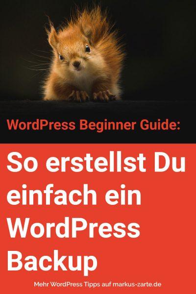 WordPress Backup erstellen