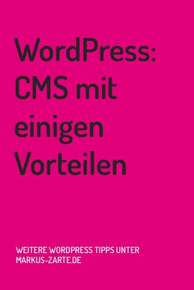 WordPress: CMS mit Vorteilen